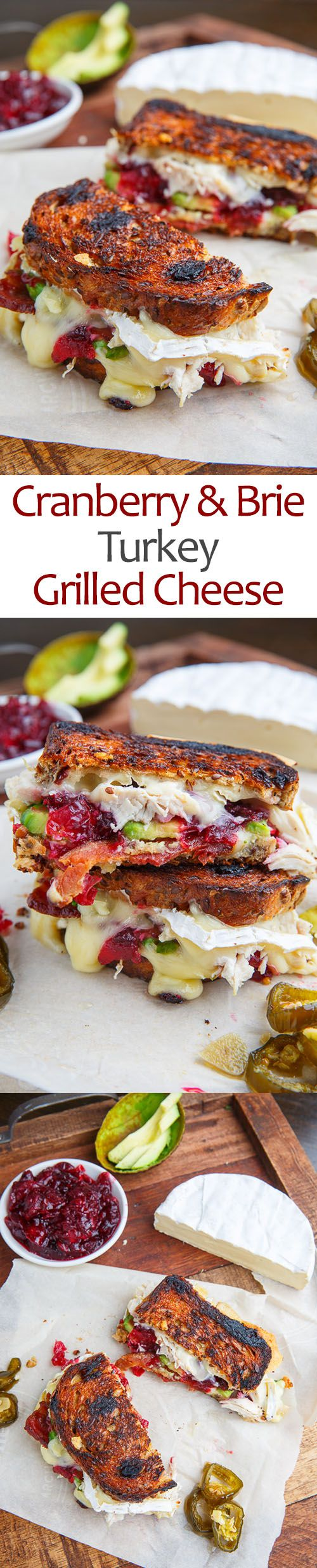 Cranberry and Brie Turkey Grilled Cheese with Avocado and Bacon                                                                                                                                                                                 More