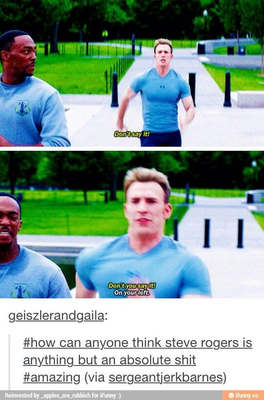 ''How can anyone think Steve Rogers is anything but an absolute shit?'' Hahahaha... That's true though... ♥