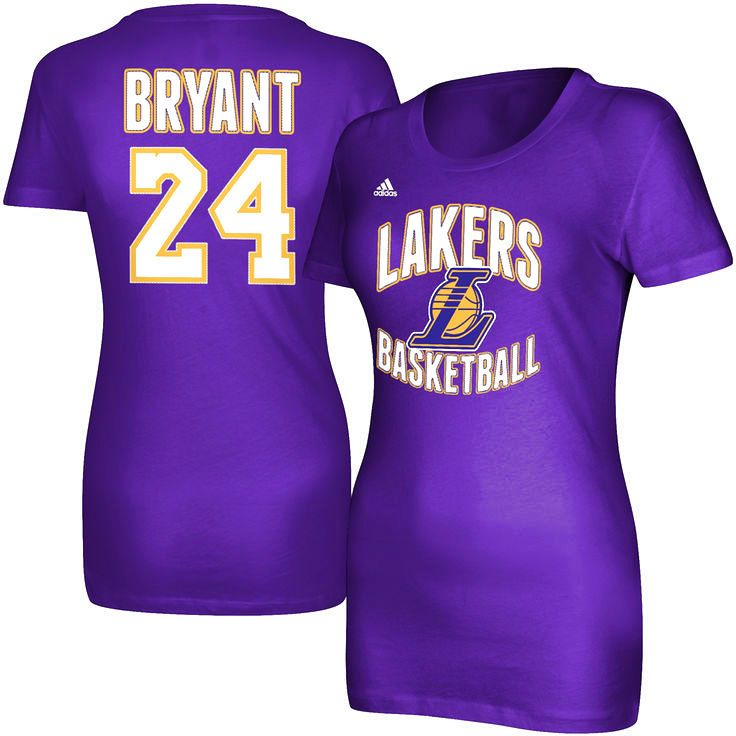 Kobe Bryant Los Angeles Lakers adidas Women's Name and Number T-Shirt – Purple - $22.39