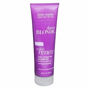"This stuff is the ""purple shampoo"" everyone talks about when you need to take the brassy tones out of your hair. I recently did a color correction on myself (look for board with pics and products I used at home) and went from dark brown to dark blonde. I use this 2x week to maintain my color. It really works great! I picked up the matching conditioner which leaves my hair super soft. It's a steal for under $7 a bottle. Also great if you have unwanted brassy tones from the sun or highlights…"