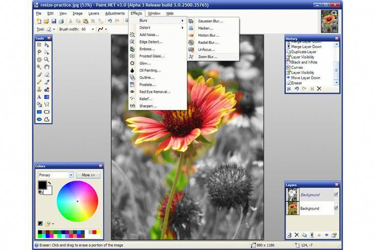 8 Fabulous Free Photo Editors for Windows: Paint NET
