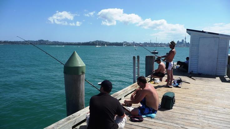 Fishing at Torpedo Bay Wharf...