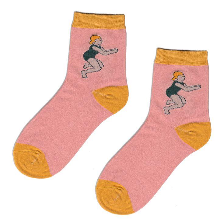 Girl Swimmer Socks