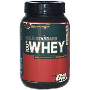 Optimum Nutrition, 100% Whey Gold Standard, Double Rich Chocolate, 2 lb (909 g) - iHerb.com