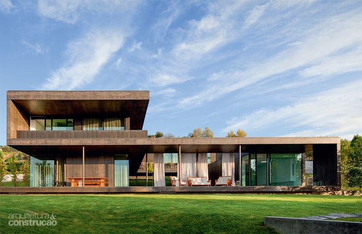 50 fachadas de casas de sonho publicadas na arquitetura for Casas modernas famosas
