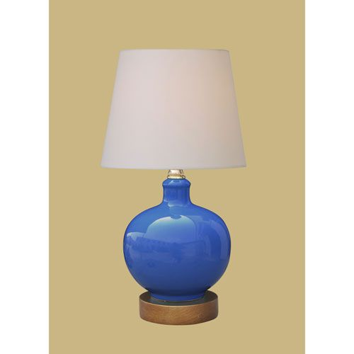 Porcelain Ware One Light Small Blue Lamp