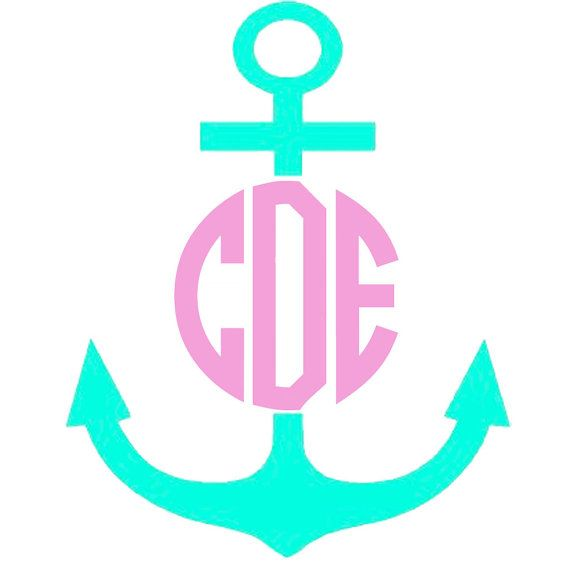 Best Our Vinyl Monograms Images On Pinterest - Anchor custom vinyl decals for car