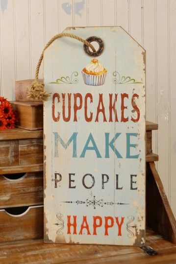 """Cupcakes"" Wood Sign by VIP International on @HauteLook"