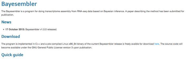 Bayesembler: transcriptome assembly from RNA-seq data based on Bayesian inference