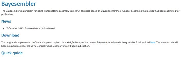 Bayesembler: transcriptome assembly from RNA-seq data based on Bayesian inference