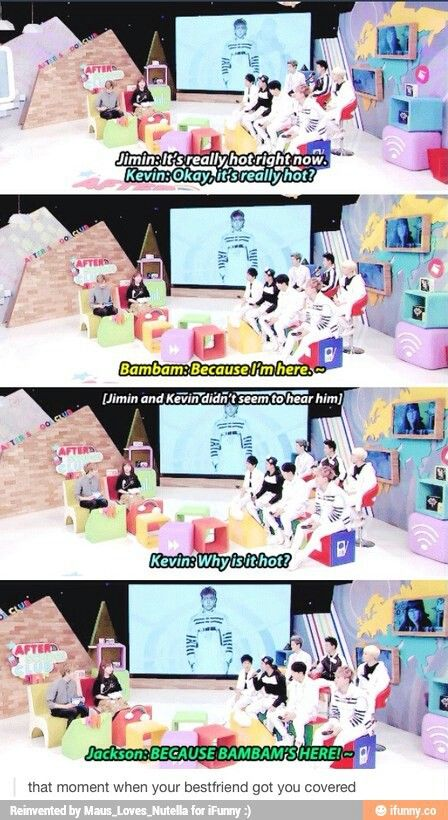 Got7 Jackson and Bambam: That moment when your best friend's got you covered - After School Club
