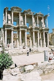 Ephesus which was established as a port, was used to be the most important commercial centre. It played a great role in the ancient times with its strategic location. Ephesus is located on a very fertile valley.  http://www.turkeytouristguide.eu/en/content/17/ephesus/