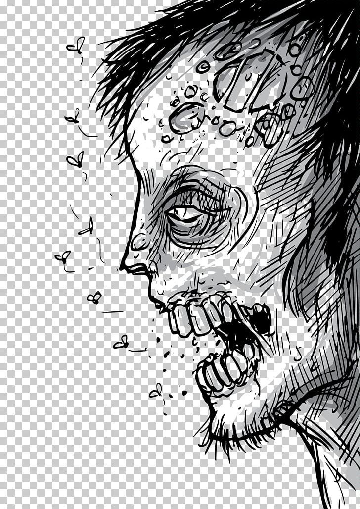 Zombie Drawing Poster Png Cartoon Comics Artist Face Fictional Character Happy Birthday Vector Images Zombie Drawings Evil Art Comics Artist