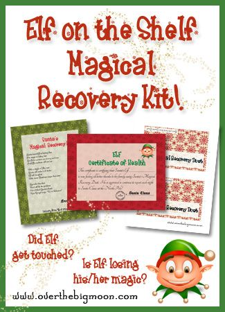 Elf on the Shelf Magical Recovery Kit - just in case your Elf gets touched and starts losing their magic!
