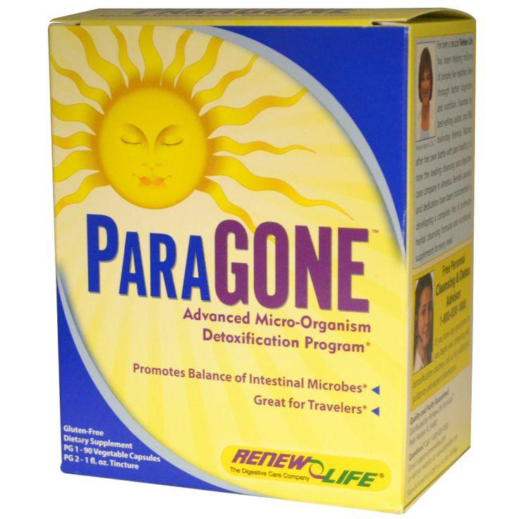 Renew Life, ParaGone, Advanced Micro-Organism Detoxification Program, 2 Part Program