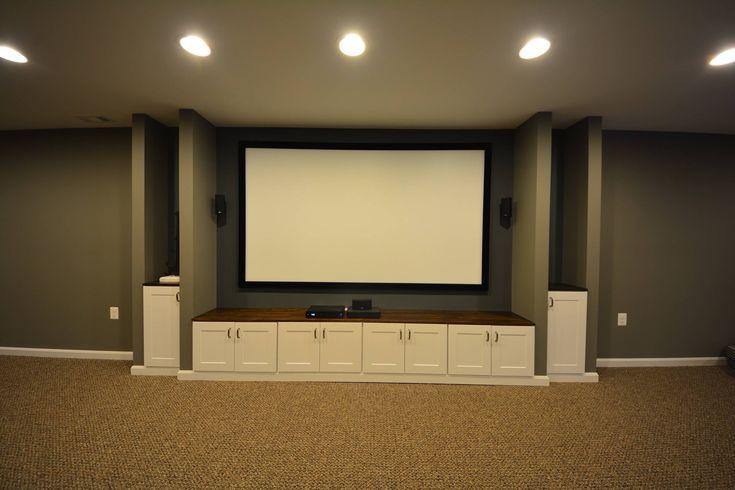 17 best ideas about basement entertainment center on