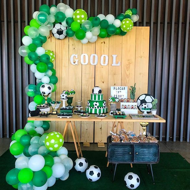 How To Make Number With Led Lights Soccer Party Decorations Soccer Birthday Parties Boy Birthday Parties