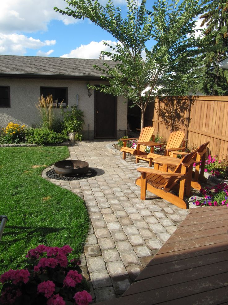 307 best Stone patio ideas images on Pinterest on Small Backyard Stone Patio Ideas id=52795