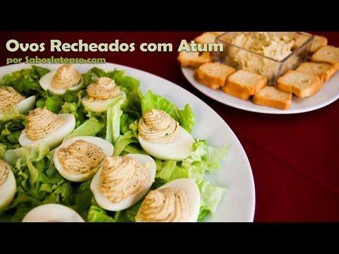 Ovos Recheados com Atum   SaborIntenso.com