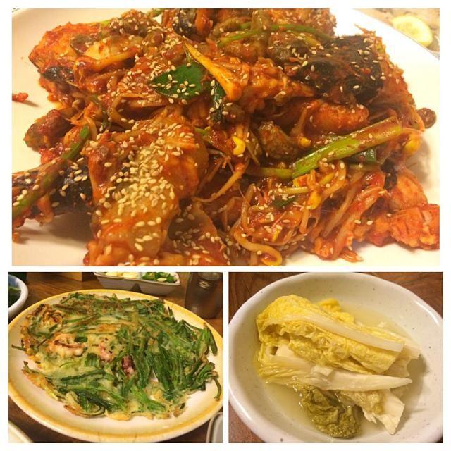 コラーゲンたっぷりの鮟鱇だけでお腹一杯になります。 もちろん、全羅南道の郷土料理なので、それなりに辛いです。 つけだしも美味しかったです。ニラチヂミは2枚目もサービスして貰いました。 - 148件のもぐもぐ - 鮟鱇と大豆モヤシの辛蒸し(アグチム아구찜)@Seoul三成洞・木浦名家(목포명가) by juneshun