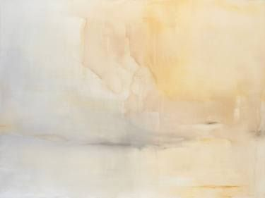 """Buy Horreum, a Acrylic on Canvas by Chris Brandell from United States. It portrays: Landscape, relevant to: rectangle, roman, white, latin, grey, heart, atrium, intimacy, horreum, landscape, large, neutral An original acrylic painting on stretched canvas that is 36x48x2.5"""" and can be hung horizontally or vertically(see additional pics). The edges are painted. It is ready to hang with hanging wire hardware and could be framed or hung as is. This painting has an ethereal layered and deep…"""