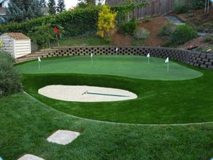 Synthetic Grass Putting Green - maintenance free gardening.