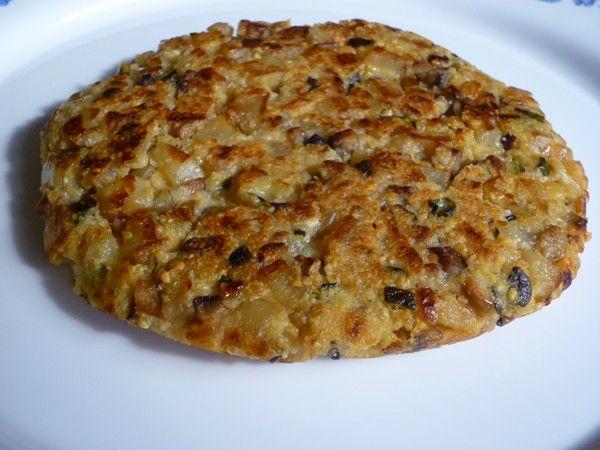 Tortilla de verduras sin huevo