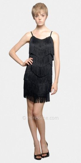 Black and white flapper dress with Halloween mask......Price - $66.00 - 1MBXgROq
