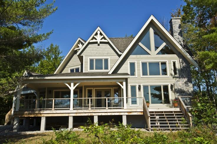 Our Amazing Island Retreat Model Home #TimberFrame #Log #Custom #IslandRetreat #DiscoveryDreamHomes