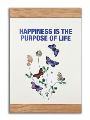 """Happiness is the purpose of life"" #messageearth #sustainable #poster #sustainability #eco #design #ecodesign #vintage"