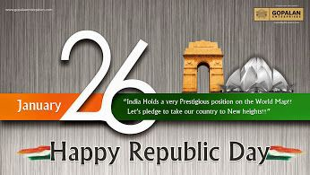 Gopalan Enterprises wishes all Indians a very Happy Republic Day. Come let's build a better India.