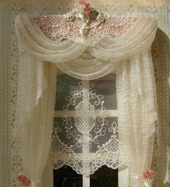 Miniature 1:12 Dollhouse curtains on order