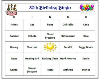 60th Birthday Party Bingo Game 60 Cards Old By BuyMeSomeHappiness