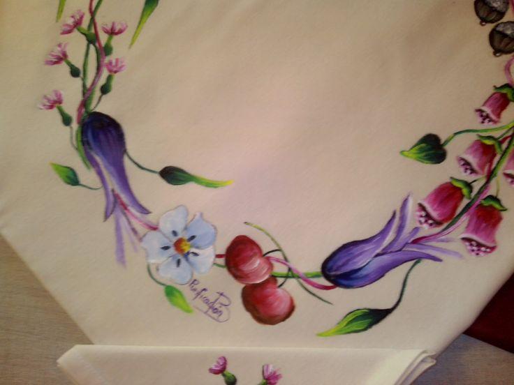 Manteles Pintados En Tela Top Pintura Artesanal Manteles