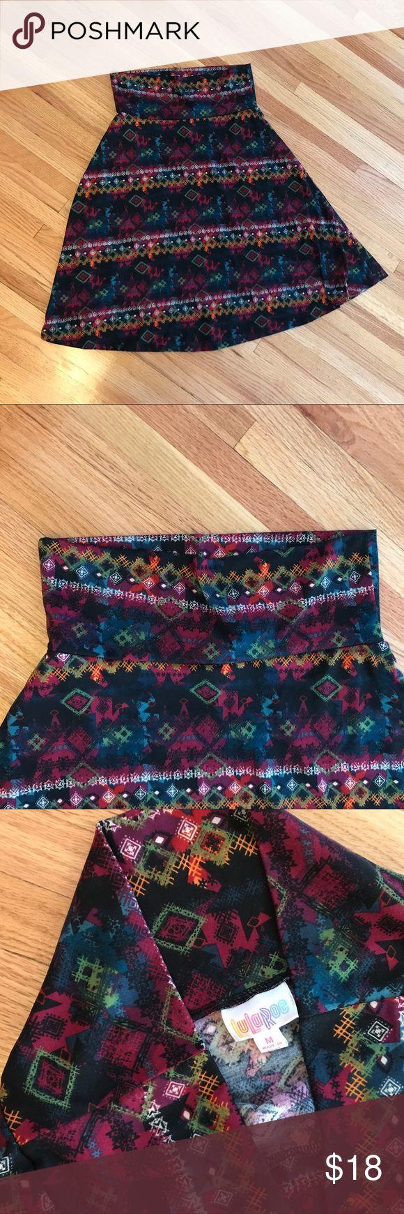 LuLaRoe size medium Aztec print skirt Size medium. Great used condition. Fun print. LuLaRoe Skirts