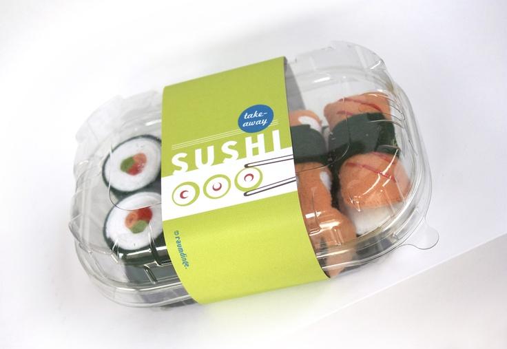 raumdinge: Kaufladenzubehör selber machen: Nr. 7 – Sushi aus Filz                                                                                                                                                                                 Mehr