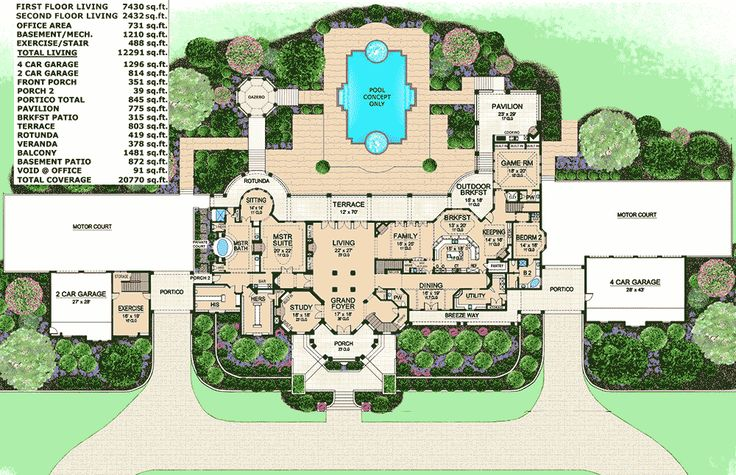 1017 best dome home plans images on pinterest house for Large mediterranean house plans