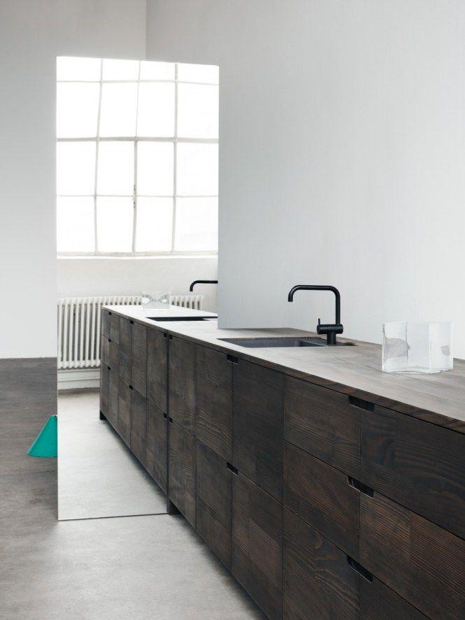 Cocinas minimalistas hechas con madera reciclada | Cocina | Pinterest