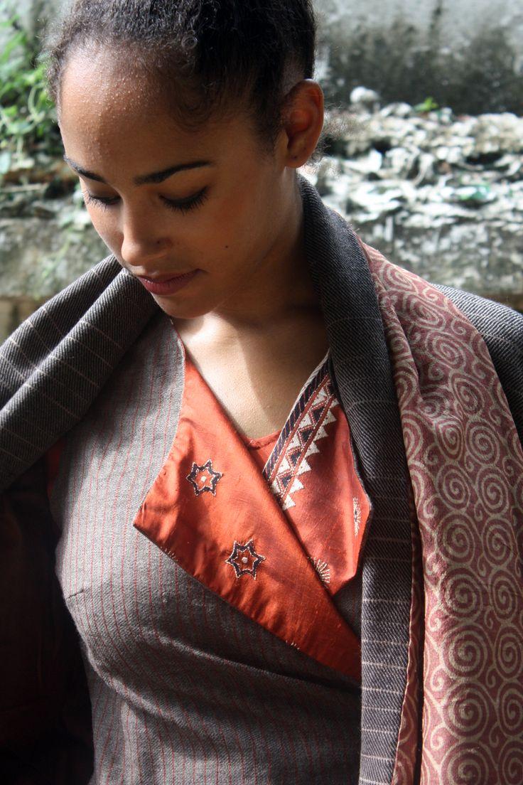 Chandigarh coat, wool, kantha.
