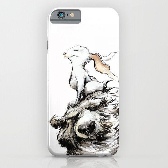 Cellphone case, drawing  graphite  ink/pen  comic   illustration  figurative  rabbit  bear   wind  forest  smile  bunny   long-ears  pleasure  cute