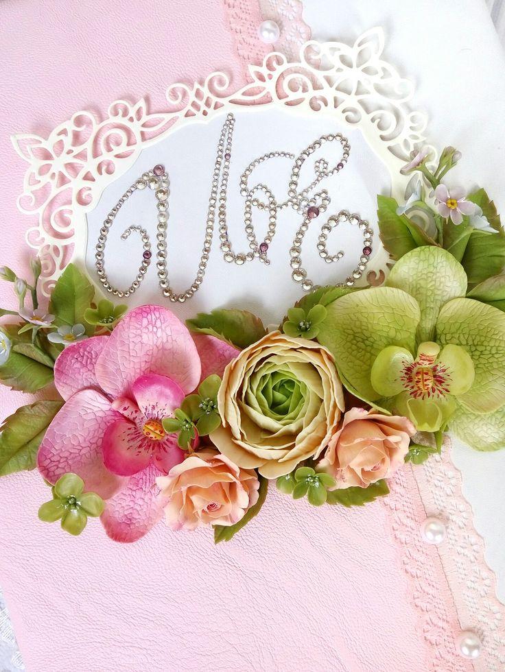 Цветы из полимерной глины  на свадебных аксессуарах #цветыизглины #керамическаяфлористика