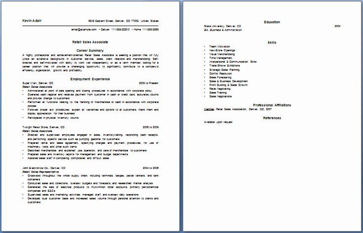 Retail sales associate resume examples new resume bullet