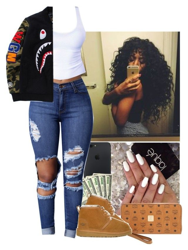 """1.25.17"" by heavensincere ❤ liked on Polyvore featuring MCM and UGG"