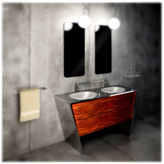 Bathroom vanity: Bathroom Design, Beautiful Bathroom, Stylish Bathroom, Modern Bathroom Vanities, Bathroom Ideas, Quattordici Bathroom, Modern Home, Bathroom Stuff, Bathroom Architecture