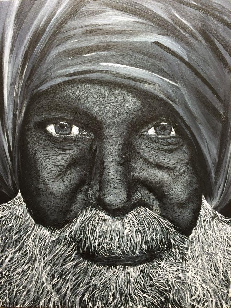 """Artist: Louich! Acrylic on canvas. 2015 """"Le vieux sage"""" • louichart@gmail.com #louichart"""