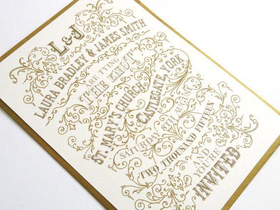 Bellissimo Wedding Invitation - Vintage Typography