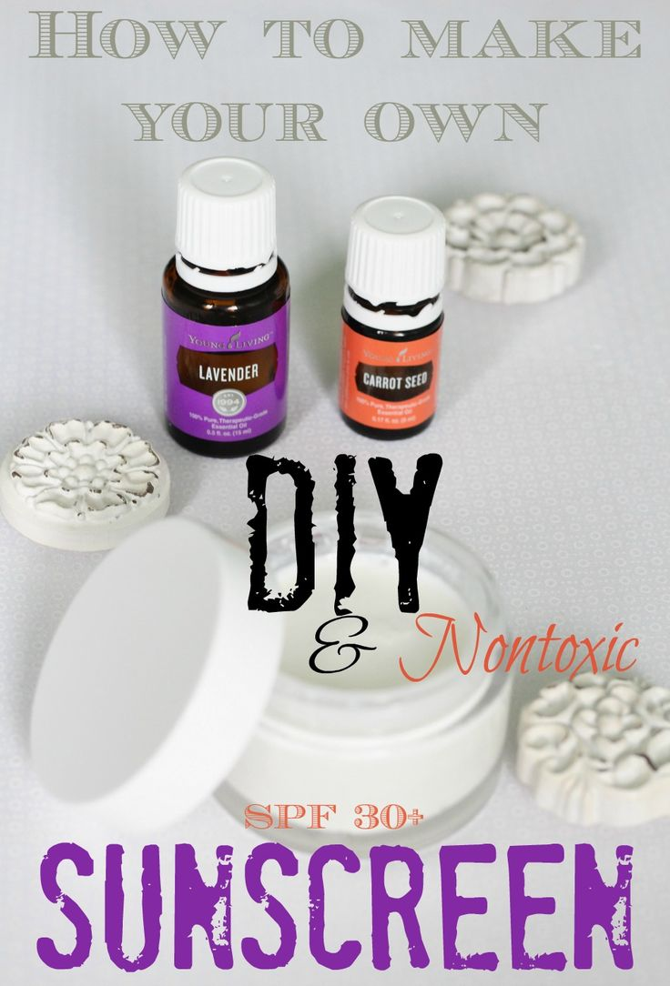 How to make your own safe, nontoxic sunscreen with essential oils and natural products with a SPF of over 30!