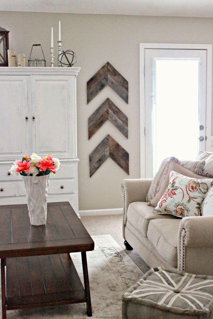 Living room wall decor ideas pinterest - 35 Rustic Farmhouse Living Room Design And Decor Ideas For Your Home