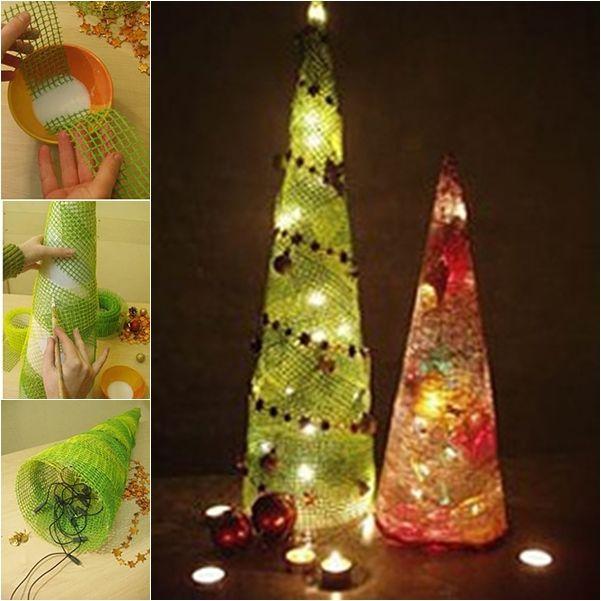 Wonderful Diy Ribbon Beads Christmas Tree: 1000+ Ideas About Mesh Christmas Tree On Pinterest
