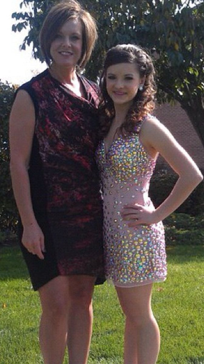 proud mom Kelly Hyland with daughter Brooke of Dance Moms :)